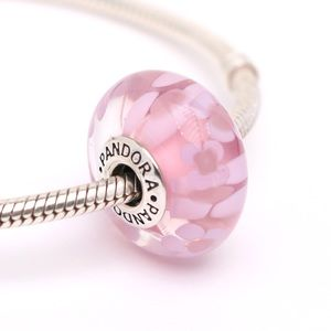 PANDORA XL Sterling Silver Pink Daisies Charm